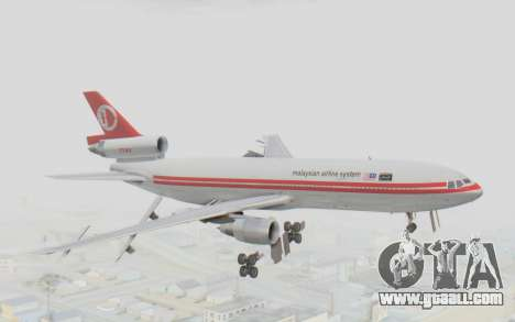 DC-10-30 Malaysia Airlines (Retro Livery) for GTA San Andreas back left view