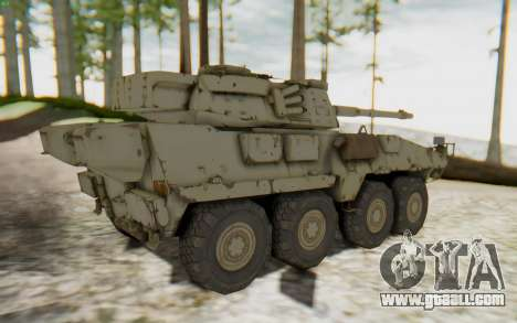 MGSV Phantom Pain STOUT IFV APC Tank v1 for GTA San Andreas back left view