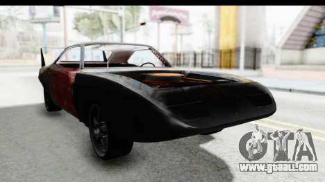 Dodge Charger Daytona F&F Bild for GTA San Andreas right view