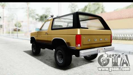 Ford Bronco 1980 IVF for GTA San Andreas right view