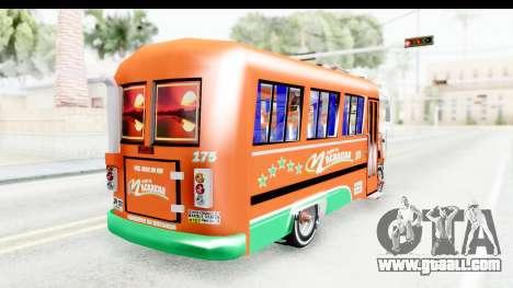 Dodge D600 v2 Bus for GTA San Andreas back left view