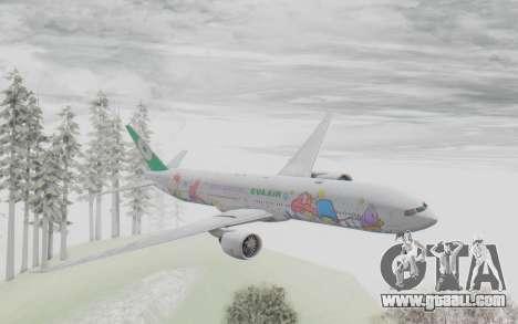 Boeing 777-300ER Eva Air v2 for GTA San Andreas back left view