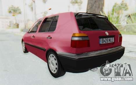Volkswagen Golf 3 1994 for GTA San Andreas left view