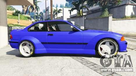 GTA 5 BMW M3 (E36) Street Custom [blue dials] v1.1 left side view