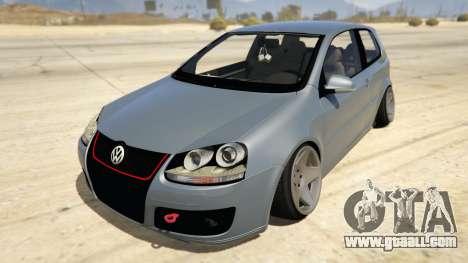 Volskwagen Golf MkV Stance for GTA 5