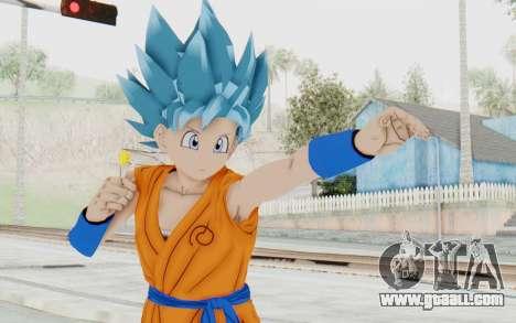 Dragon Ball Xenoverse Female Saiyan SSGSS for GTA San Andreas