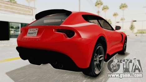 GTA 5 Grotti Bestia GTS v2 IVF for GTA San Andreas back left view