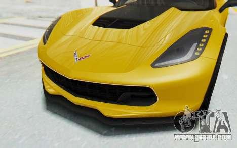 Chevrolet Corvette C7.R Z06 2015 for GTA San Andreas upper view