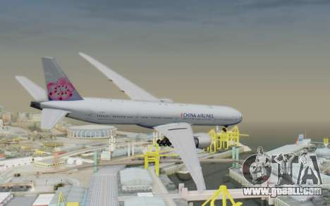 Boeing 777-300ER China Airlines for GTA San Andreas left view