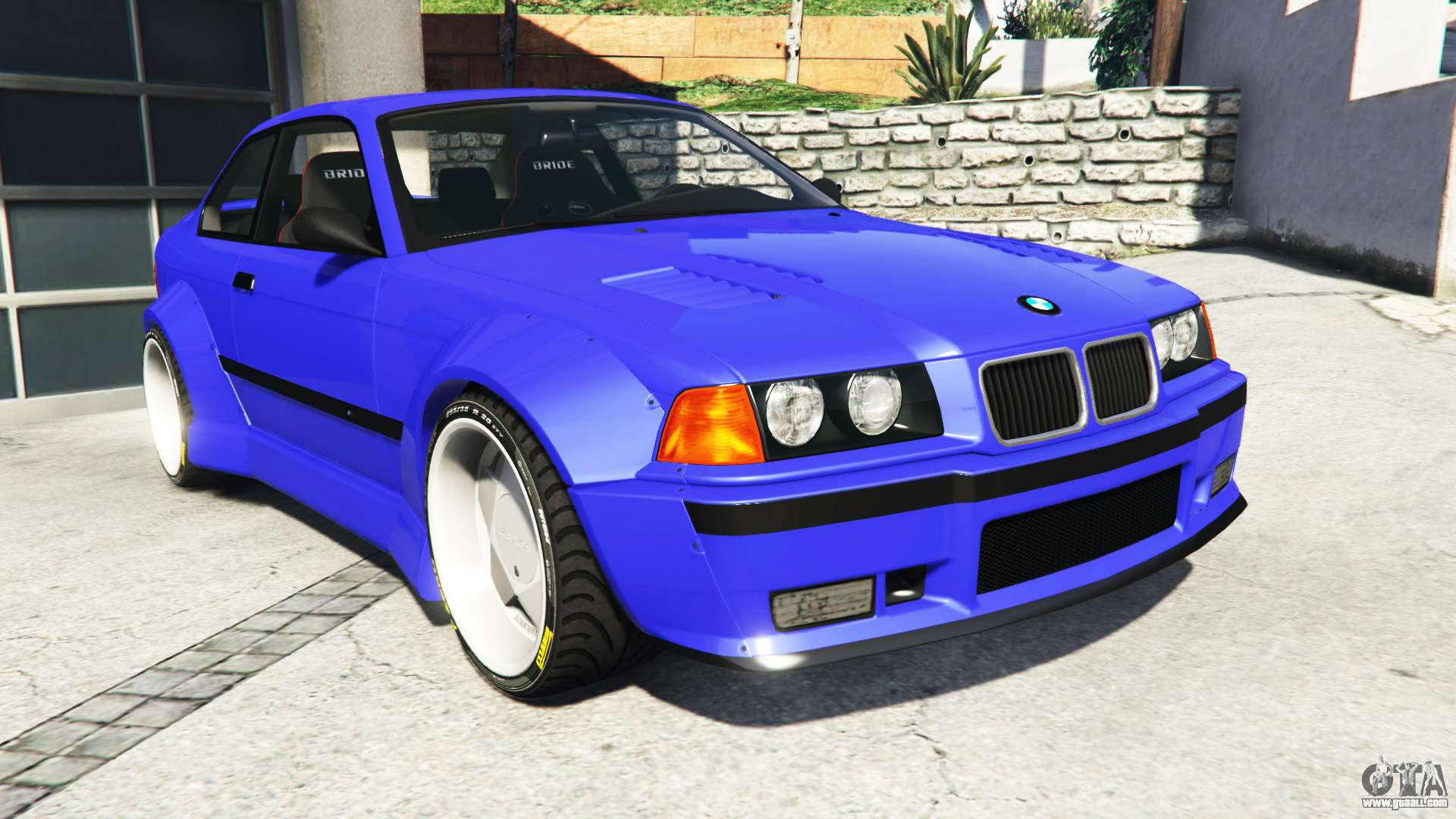bmw m3 e36 street custom blue dials v1 1 for gta 5. Black Bedroom Furniture Sets. Home Design Ideas