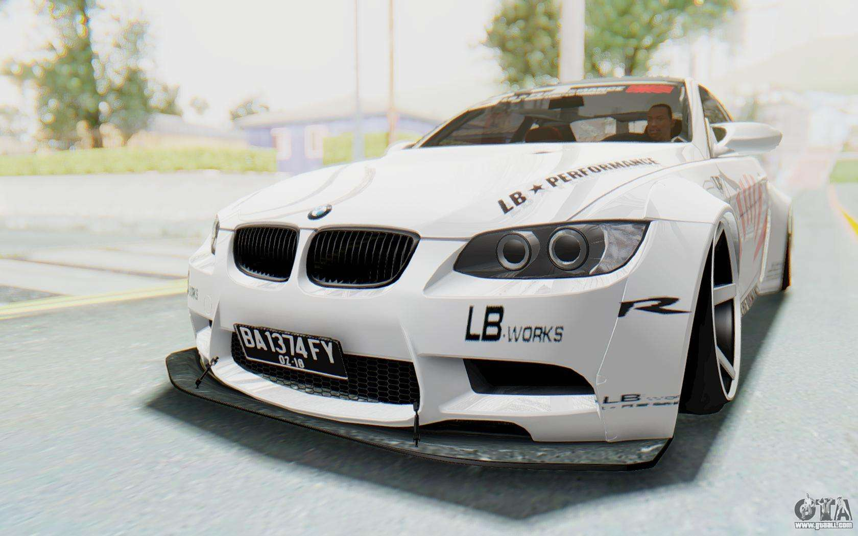 bmw m3 e92 liberty walk lb performance for gta san andreas. Black Bedroom Furniture Sets. Home Design Ideas