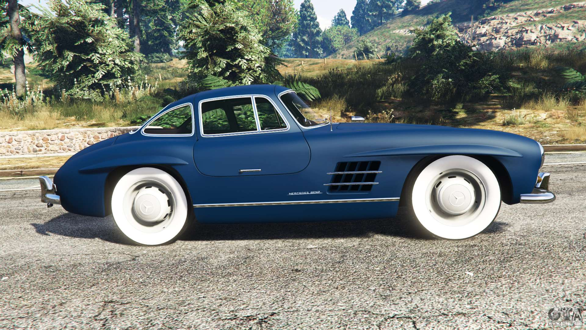 Mercedes benz 300sl gullwing 1955 for gta 5 for Mercedes benz gullwing 1955