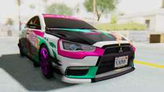 Mitsubishi Lancer Evo X Racing Miku 2016 Itasha for GTA San Andreas