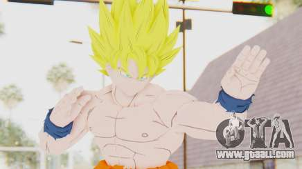 Dragon Ball Xenoverse Goku Shirtless SSJ for GTA San Andreas