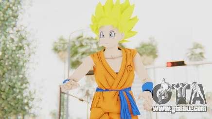 Dragon Ball Xenoverse Female Saiyan SSJ for GTA San Andreas