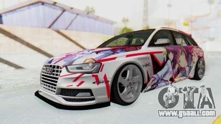 Audi S4 Avant Yurippe Angel Beats Itasha for GTA San Andreas