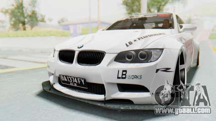 BMW M3 E92 Liberty Walk LB Performance for GTA San Andreas