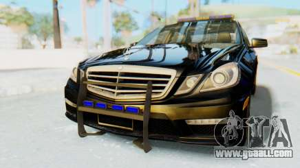 Mercedes-Benz E63 German Police Blue for GTA San Andreas