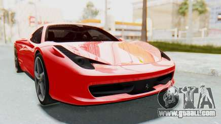 Ferrari 458 Italia F142 2010 for GTA San Andreas