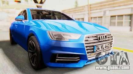 Audi A4 2017 HQLM for GTA San Andreas