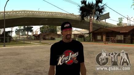 King James T-Shirt for GTA San Andreas