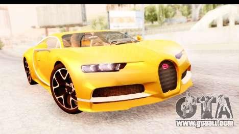 Bugatti Chiron 2017 v2.0 Updated for GTA San Andreas