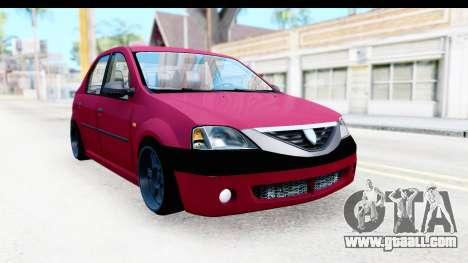 Dacia Logan Editie for GTA San Andreas right view