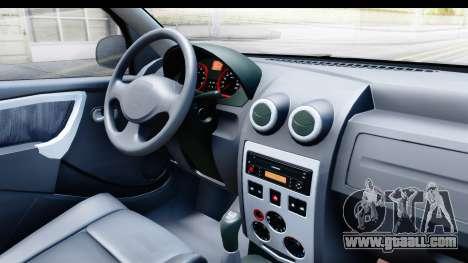 Dacia Logan Editie for GTA San Andreas inner view