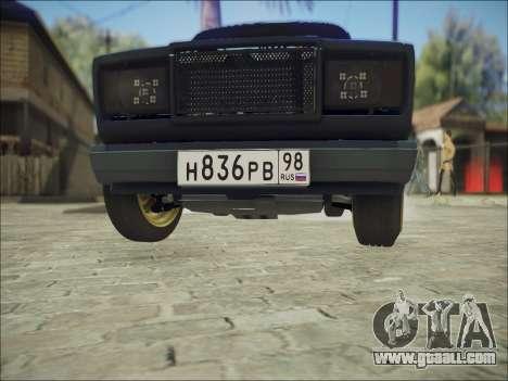 VAZ 2107 Black Jack for GTA San Andreas inner view