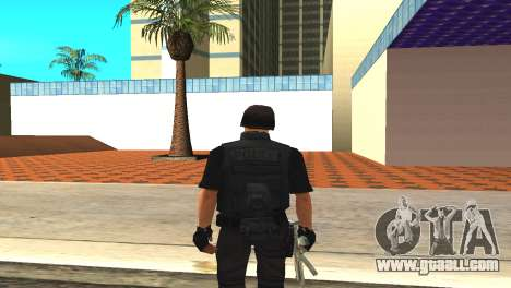 Original SWAT skin without a mask for GTA San Andreas third screenshot