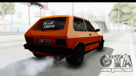 Zastava Yugo Koral 55 Race for GTA San Andreas right view