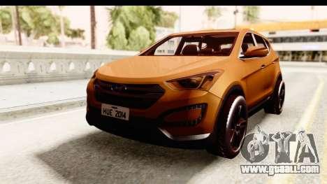 Hyundai Santa Fe 2015 for GTA San Andreas back left view