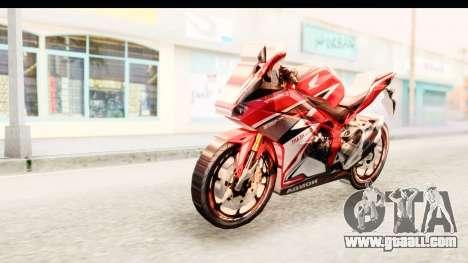 Honda CBR250RR for GTA San Andreas back left view
