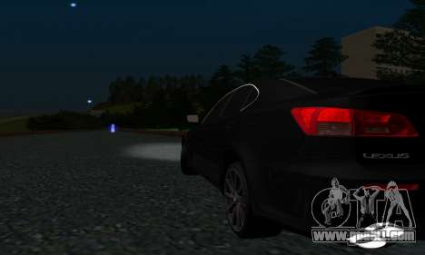 Lexus IS-F for GTA San Andreas inner view