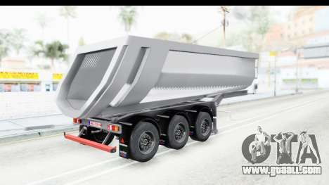 Trailer Volvo Dumper for GTA San Andreas left view