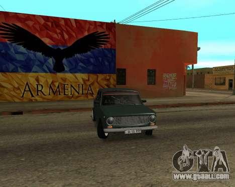 VAZ 2101 Armenia for GTA San Andreas side view