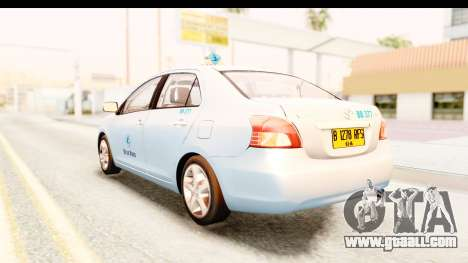 Toyota Vios 2008 Taxi Blue Bird for GTA San Andreas left view