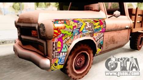 Walton Sticker Bomb for GTA San Andreas back view