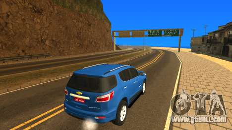 Chevrolet TrailBlazer 2015 LTZ for GTA San Andreas back view