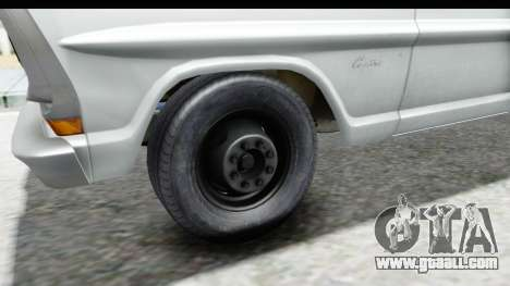 Ford F-350 Farm Truck 1970 IVF for GTA San Andreas back view