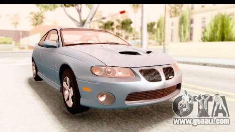 Pontiac GTO 2006 for GTA San Andreas