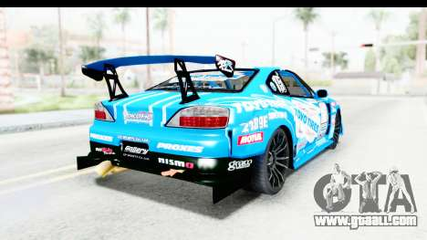 Nissan Silvia S15 D1GP Blue Toyo Tires for GTA San Andreas back left view