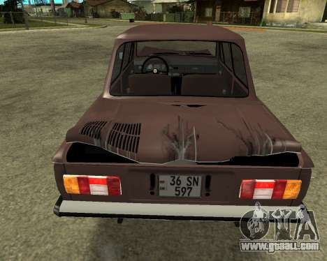 ZAZ 968M Armenia for GTA San Andreas bottom view