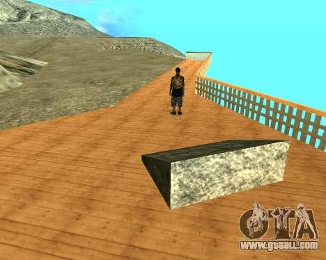 Armenian Flag On Mount Chiliad V-2.0 for GTA San Andreas sixth screenshot