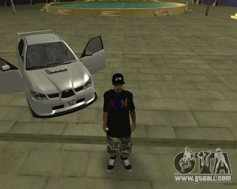 Subaru Impreza Armenian for GTA San Andreas bottom view
