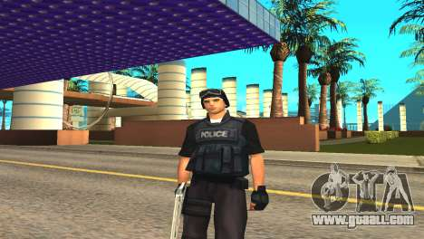 Original SWAT skin without a mask for GTA San Andreas