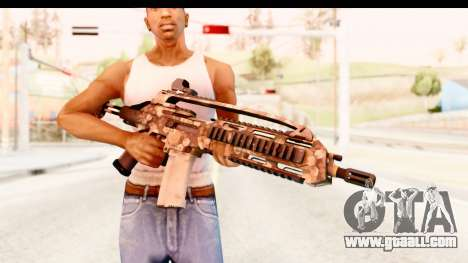 SCAR-LK Hex Camo Tan for GTA San Andreas third screenshot