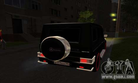 1999 Mercedes-Benz G55 AMG Brabus for GTA San Andreas inner view