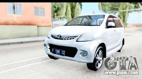 Toyota Avanza Veloz 2012 v1.1 for GTA San Andreas