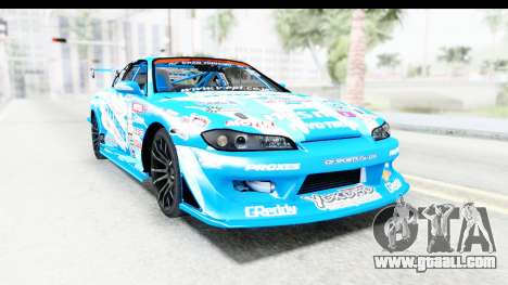 Nissan Silvia S15 D1GP Blue Toyo Tires for GTA San Andreas right view